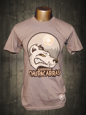Albuquerque Chupacabras Concrete Grey T-shirt