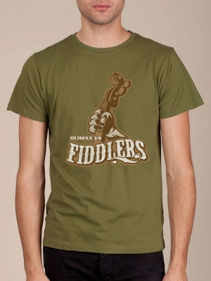 Climax Fiddlers Army Green Funny T-shirt