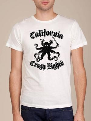 California Crazy Eights White Super Soft T-shirt