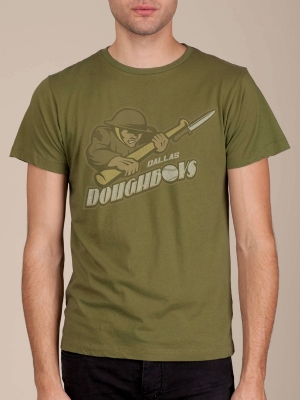 Dallas Doughboys Army Green Super Soft T-shirt