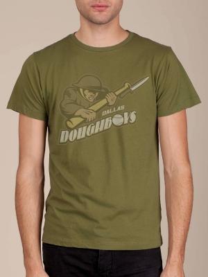 Dallas Doughboys Army Green Super Soft T-shirt