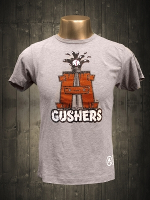 Houston Gushers Heather Grey Cool T-shirt