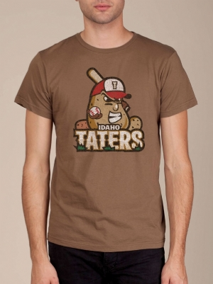 Idaho Taters Earth Brown Funny T-shirts
