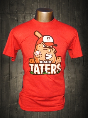Idaho Taters Vintage Red Funny T-shirts