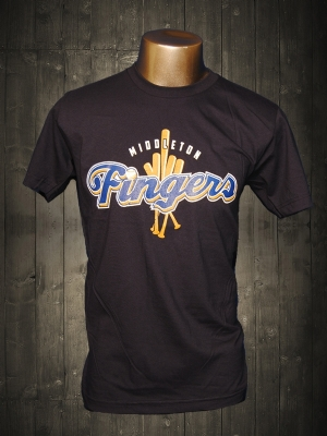 Middleton Fingers Navy Blue Funny T-shirt