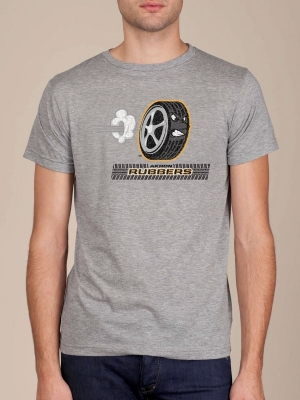 Akron Rubbers Heather Grey Super Soft T-shirt