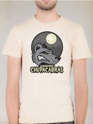 Albuquerque Chupacabras Cream T-shirt