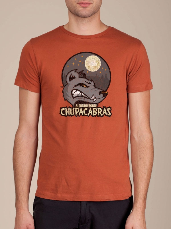 Albuquerque Chupacabras Rust Orange T-shirt