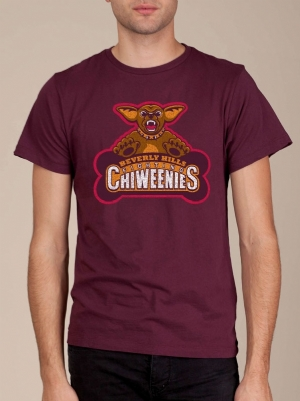 Beverly Hills Fighting Chiweenies Bordeaux T-shirt
