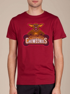 Beverly Hills Fighting Chiweenies Cranberry T-shirt