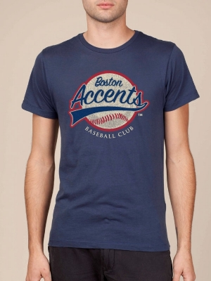 Boston Accents Navy Blue Super Soft T-shirt