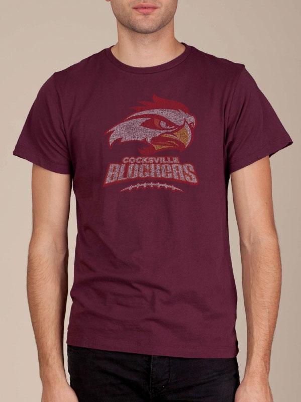 Cocksville Blockers College Edition Bordeaux Funny T-shirt