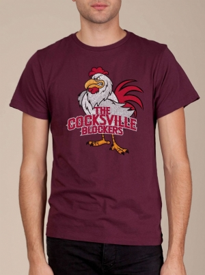 Cocksville Blockers Bordeaux Funny T-shirt