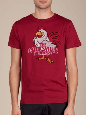 Cocksville Blockers Cranberry Funny T-shirt