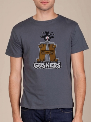 Houston Gushers Asphalt Grey Cool T-shirt