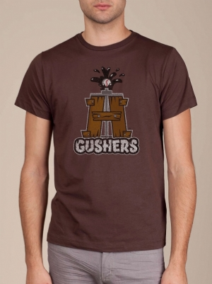 Houston Gushers Brown Cool T-shirt