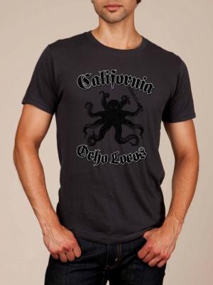 California Ocho Locos Heather Black Super Soft T-shirt