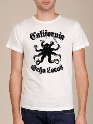 California Ocho Locos White Super Soft T-shirt