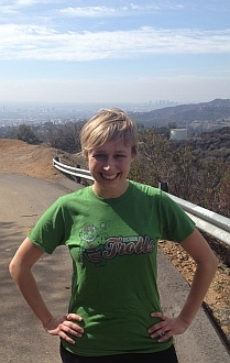 Amy Vorpahl Wearing the Decorah Trolls