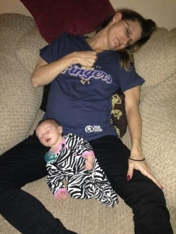 Taking a Nap with a Brand New Baby and the Middleton Fingers