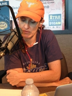 Crash Gladys hard at work
