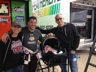 Tony Stewart with Las Vegas Hookers T-shirt