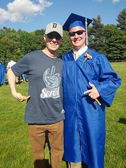 Graduation picture with the Cape Cod Scrod
