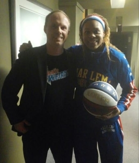 Sweet J of the Harlem Globetrotters