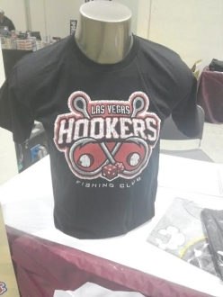 Las Vegas Hookers T-shirt on a mannequin