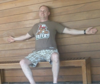Idaho Taters Funny Sports T-shirt at the Dallas Arboretum
