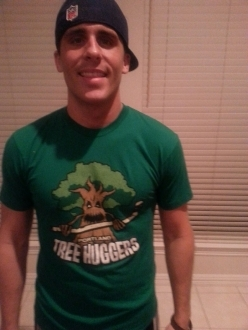 Jake Wearing Portland Tree Huggers awesome t-shirt