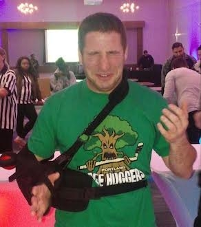 Jared Sandler Wearing The Portland Tree Huggers