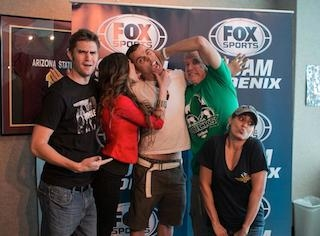 SpeedFreaks with Steve O wearing Arizona Pricks T-shirt