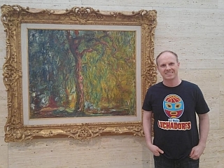Monet Weeping Willow with Luchadores