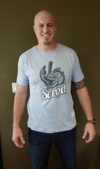 Marc Colombo wearing the Cape Cod Scrod T-shirt