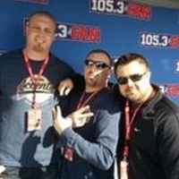 Marc Colombo wearing Boston Accents Tshirt at the Cowboys