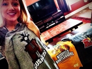 Mary Sarah wears Awesome Sports Logos