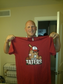 Mike Bacsik Idaho Taters Baseball T-shirt