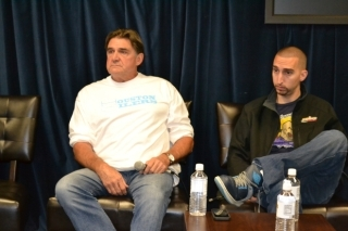 Nick Wright wearing the Brooklyn Leg Breakers