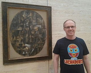 Luchadores Picture with Picasso Man With a Pipe