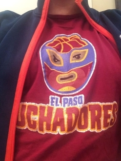 El Paso Luchadores Awesome T-shirt Up Close