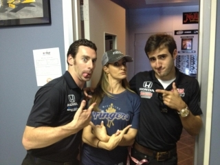 IRL drivers with Middleton Fingers awesome tshirt